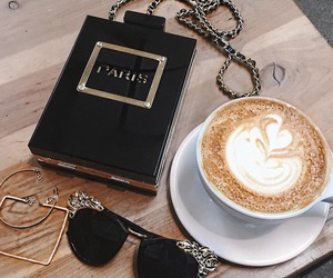 coffee, babe, and chanel image
