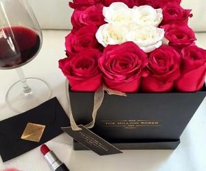 rose, wine, and mac image
