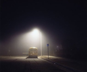 bus, photography, and night image