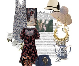 bohemian, fashion, and tea party image