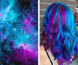 hair and galaxy image