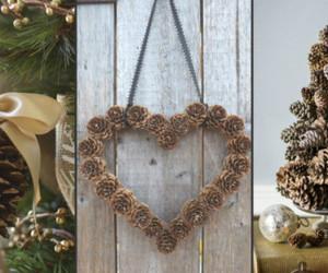christmas, diy, and pine cones image
