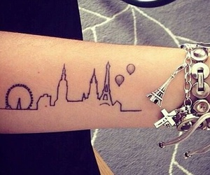 tattoo, paris, and london image