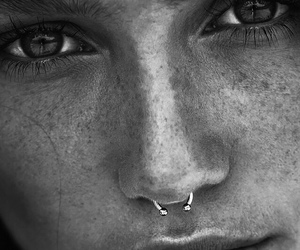 girl, piercing, and beauty image
