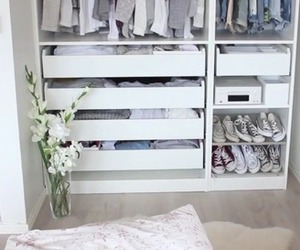 closet, clothes, and white image