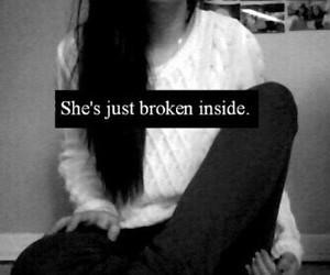 broken, sad, and depressed image