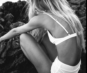 black and white, girl, and inspiration image