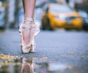 ballerina, cities, and outdoors image