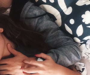 bed, cuddle, and boyfriend image