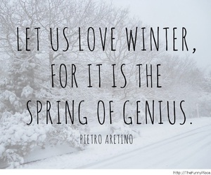 quote, snow, and white image