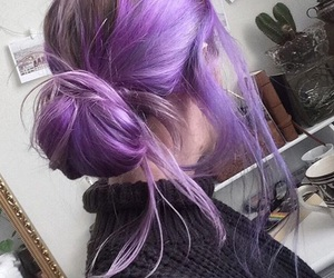 purple, grunge, and hair image