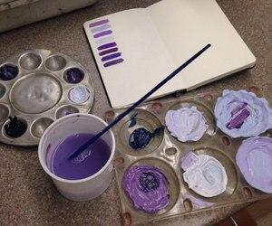 purple, art, and paint image