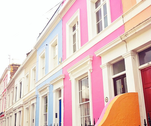 house, pink, and travel image