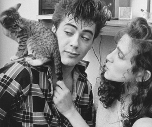 robert downey jr and cat image