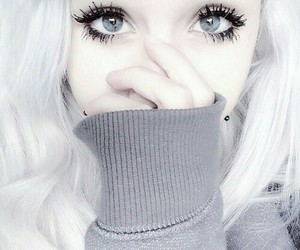 girl, white, and eyes image