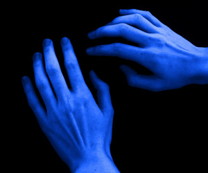 blue, hands, and grunge image