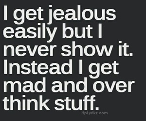 quote, jealous, and mad image