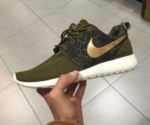 gold, nike, and shoe image