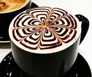 coffee, art, and yummy image