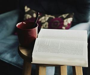 book, coffee, and tea image