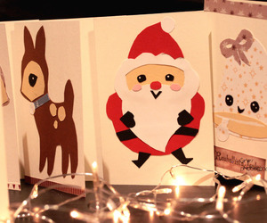 cards, winter, and christmas image
