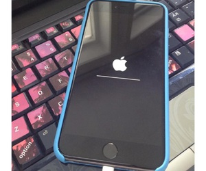 blue and iphone image