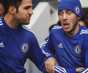 cesc fabregas and eden hazard image