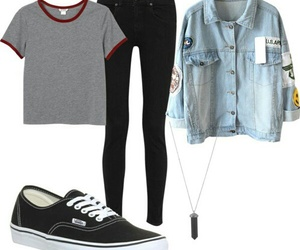 clothes, jeans, and collar image