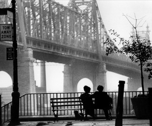 manhattan, black and white, and couple image