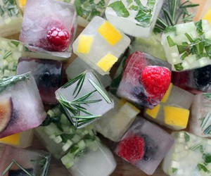 fruit, ice cube, and herbs image