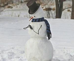 fun, snow, and snowman image