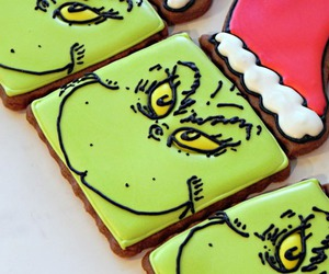 christmas, Cookies, and grinch image