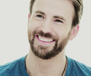 chris evans, captain america, and smile image