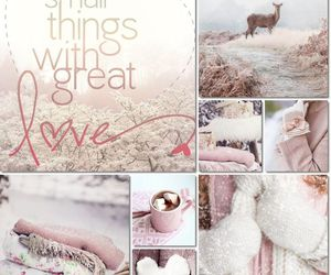 pics, pink, and snow image