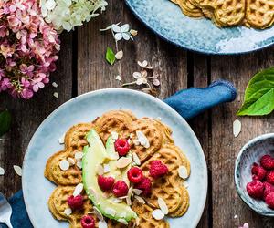 avocado, raspberry, and food image