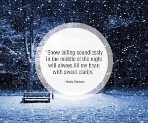 quotes, snow, and december image