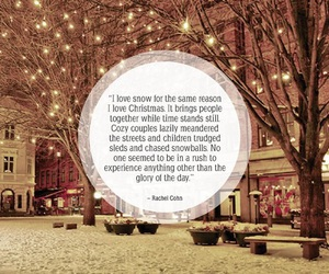 christmas, quote, and snow image