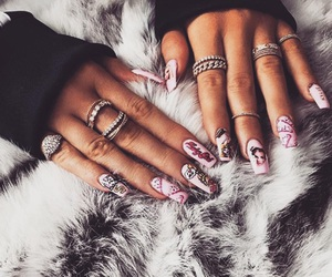 nails, kylie jenner, and pink image