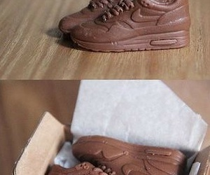 chocolate, nike, and shoes image