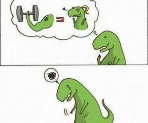 dinosaur, funny, and t-rex image