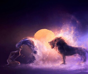 lion, Leo, and zodiac image