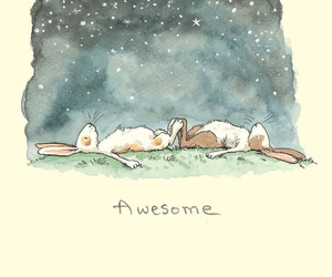 awesome, stars, and bunny image