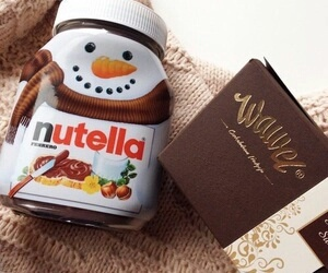snowman, winter, and chocolate image