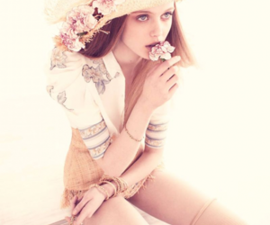 flowers, hat, and frida gustavsson image