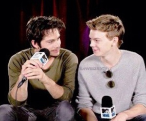 thomas brodie sangster, the maze runner, and dylan o'brien image