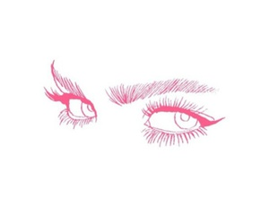 eyes, pink, and wallpaper image