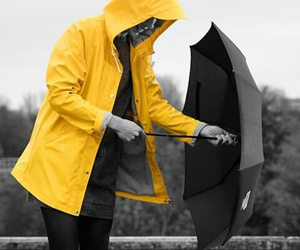 fashion, rain, and outfit image