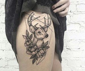 tattoo and deer image