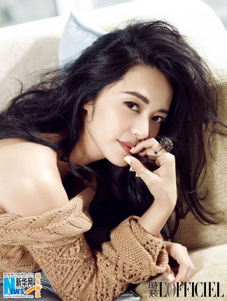 china, chinese actress, and l'officiel magazine image