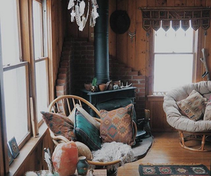 living room, interior design, and rustic image